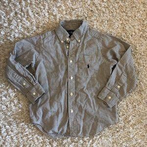 Polo Ralph Lauren Button Down Shirt Plaid Size 5